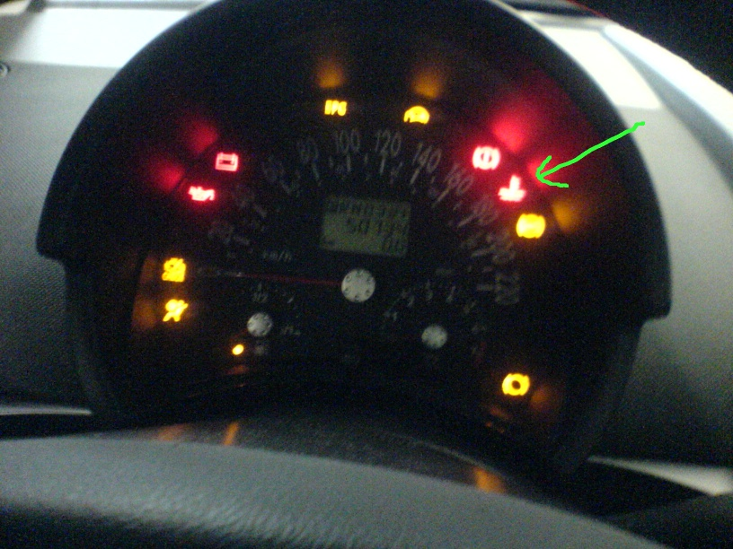volkswagen temperature light flashing red