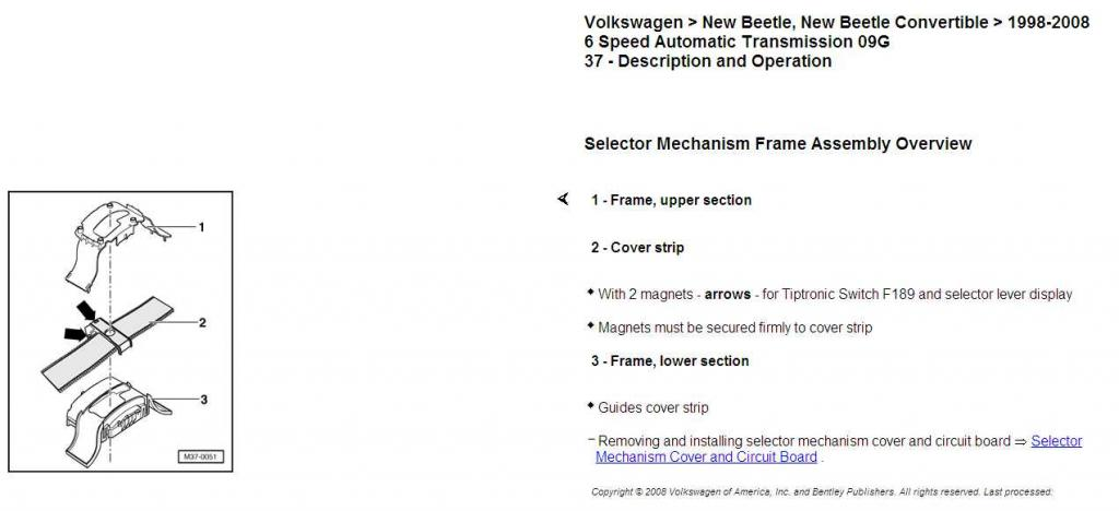 """VW Dealer Chicago >> Automatic Shifter """"thing"""" - NewBeetle.org Forums"""