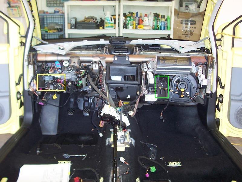 D Evaporator Core Access Nb Dash Removed on 2000 Vw Beetle Fuse Box Location