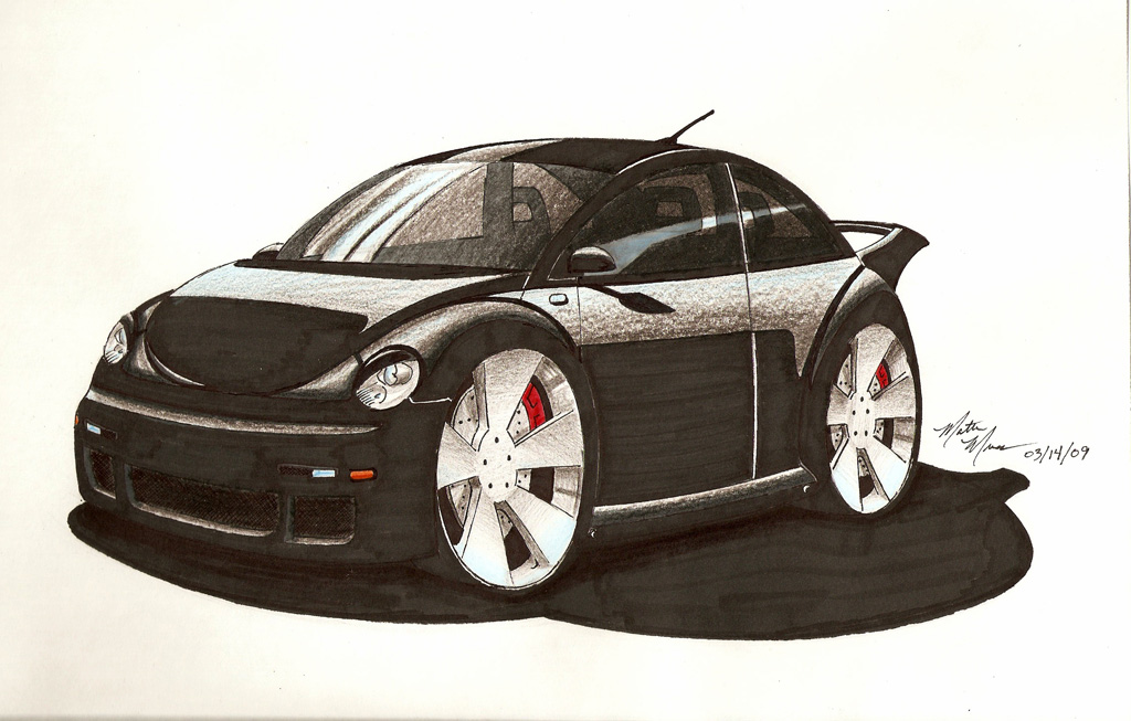 Car drawings personalized just for you!-beetle-drawing-1024.jpg