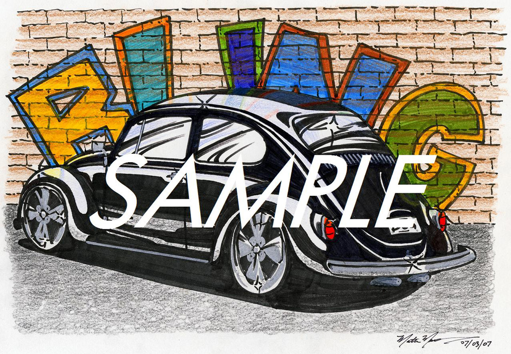 Car drawings personalized just for you!-bling-bug-sample-1024.jpg