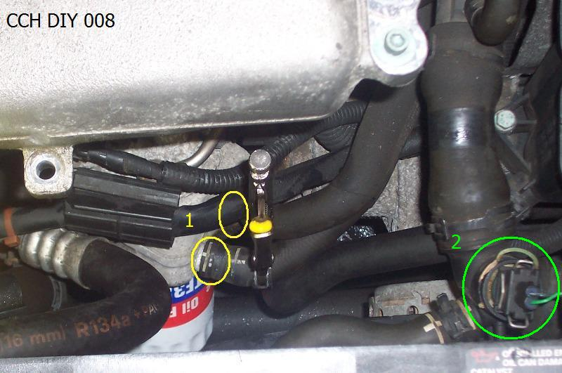 after run coolant pump not running org forums 3 sensor in top radiator hose green circle 2
