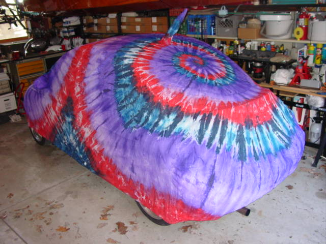 FS Tie Dye Car Cover