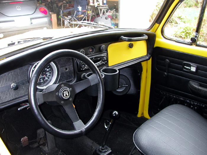 """""""Oscar"""" my yellow 1970 bug.-dash.jpg"""