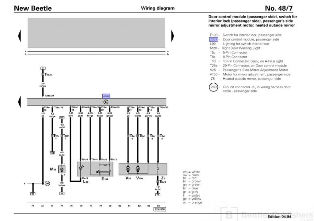 Driver Door Wiring Harness? 850$?? - NewBeetle.org Forums
