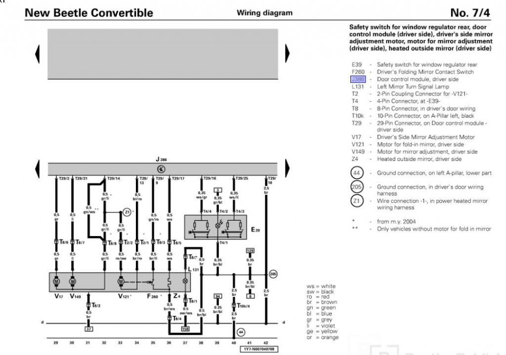 vw power window diagram wiring circuit u2022 rh ericruizgarcia co 1999 VW Beetle Fuse Diagram 1999 VW Beetle Fuse Diagram
