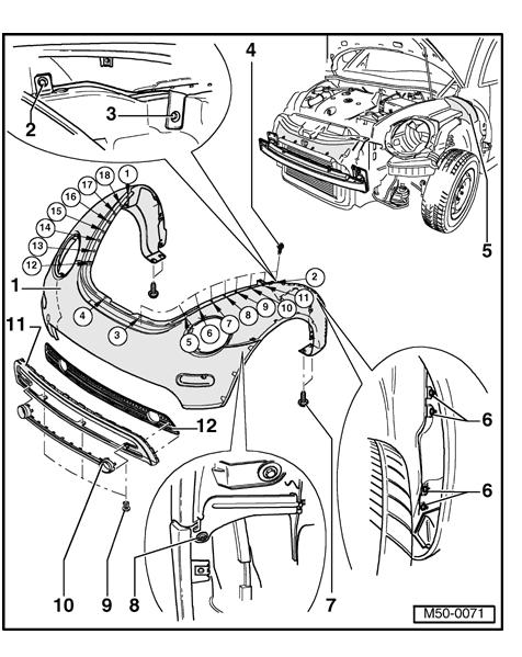 2001 Vw Beetle Front Bumper Diagram