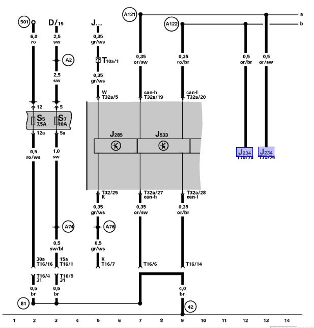 instrument cluster  data link connector wiring diagram