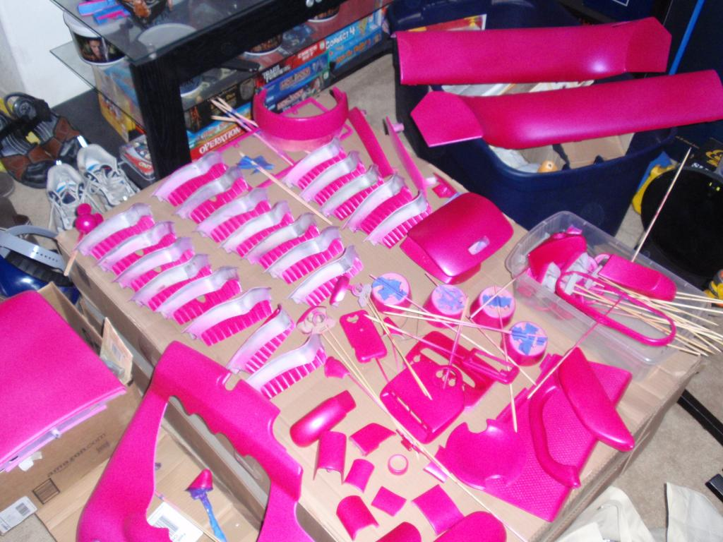 painting car interiorEvilinas SPARKLESCENT PS PINK Interior painting upgrade and the