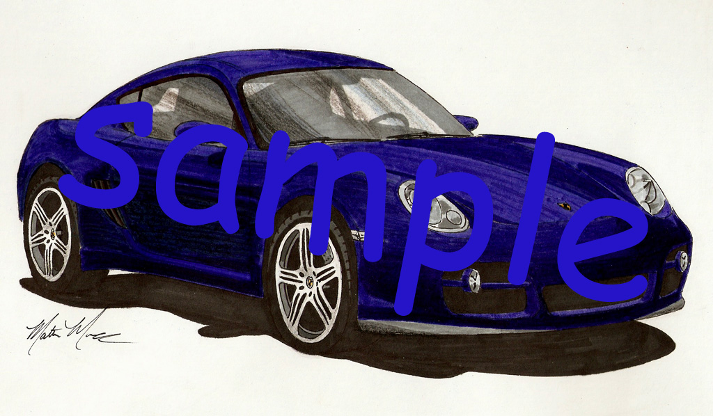 Car drawings personalized just for you!-porsche-sample.jpg