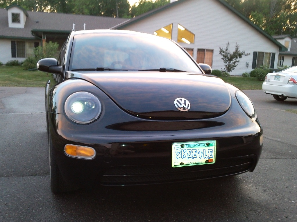 Halo Projector Headlights On A Black Beetle Pics Newbeetle Org Forums