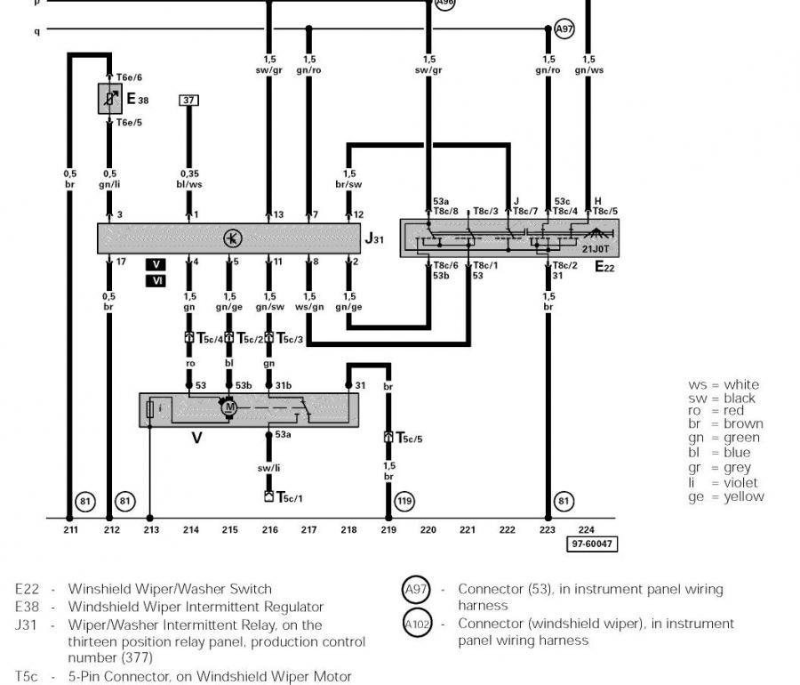 [DIAGRAM_1JK]  Wiring Diagram for Windshield Wipers | NewBeetle.org Forums | 2000 Vw Beetle Wiring Diagram |  | NewBeetle.org