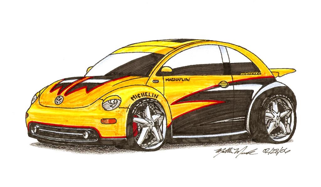 Car drawings personalized just for you!-yellowblacknb1024.jpg