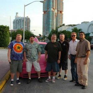 Miami 2005 Gator, myself, Keith, TJ, Bill and Rony